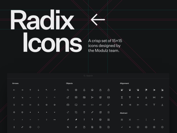 Radix Icons: A crisp set of tiny icons