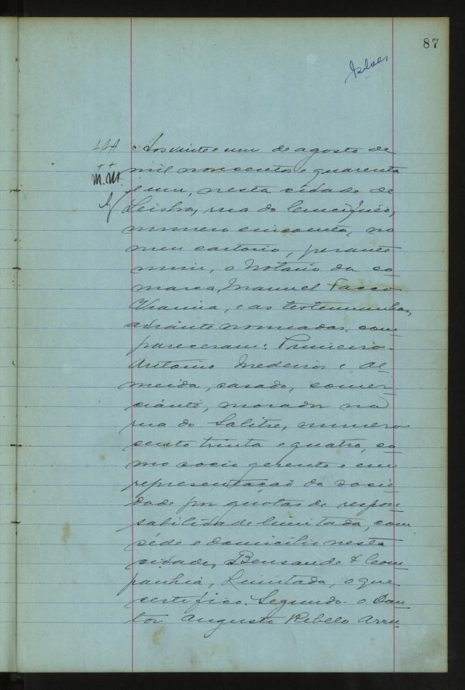 Escritura de Constituição da SATA