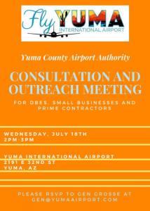 Yuma International Airport Consultation and Outreach Meeting
