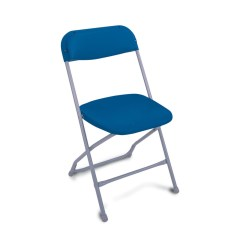 Blue Folding Chairs Quinn Swivel Chair A Z Reliant Catering Equipment Hire