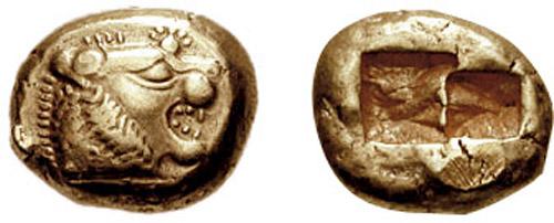 duit syiling emas lydia
