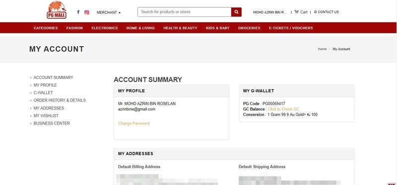 Scroll Account Summary sehingga ke bawah untuk mendapatkan referral link.