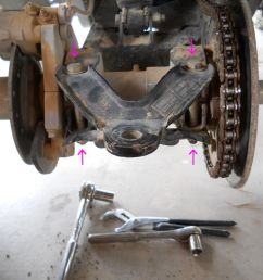 next on the left side on the bottom of the brake caliper there are two nuts you need to loosen those once they are loose you are ready to rotate the  [ 1024 x 768 Pixel ]