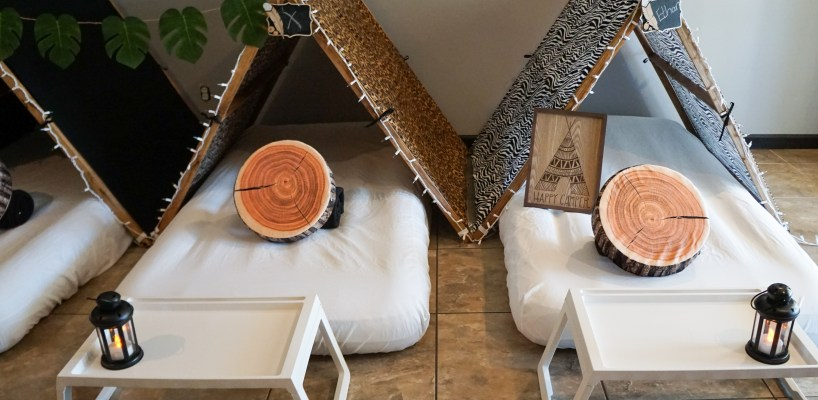Camouflage or Safari teepee party, glamping party theme, Teepee Party Scottsdale (1)