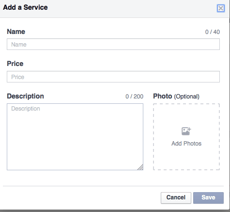 New! Services Tab for Facebook Business Pages!