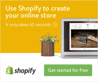 Start Selling online with Shopify