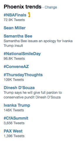 What's trending on Twitter Phoenix