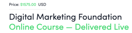 Very expensive online marketing classes