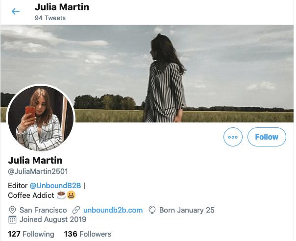 Julia Martin on Twitter