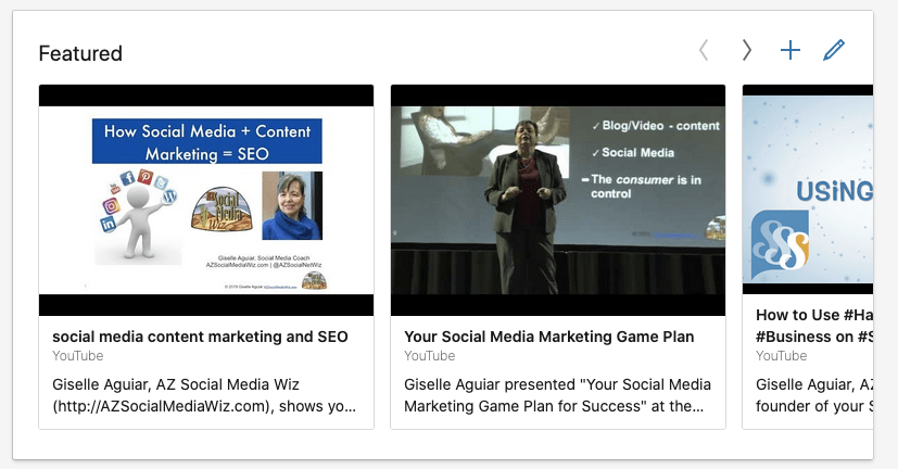 Social Media Marketing News: Now you can feature your videos, slideshows & PDFs on your LinkedIn Profile.