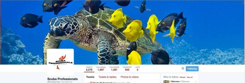 Scuba Professionals of Arizona Twitter Page
