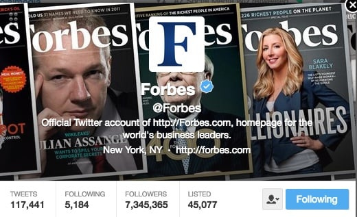 Forbes on Twitter - a newsmaker
