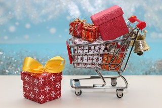 Christmas Shopping Cart & Gifts