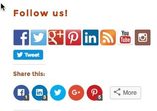 You need to have both social media share and follow buttons on your website