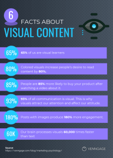 Visual Content Facts infographic