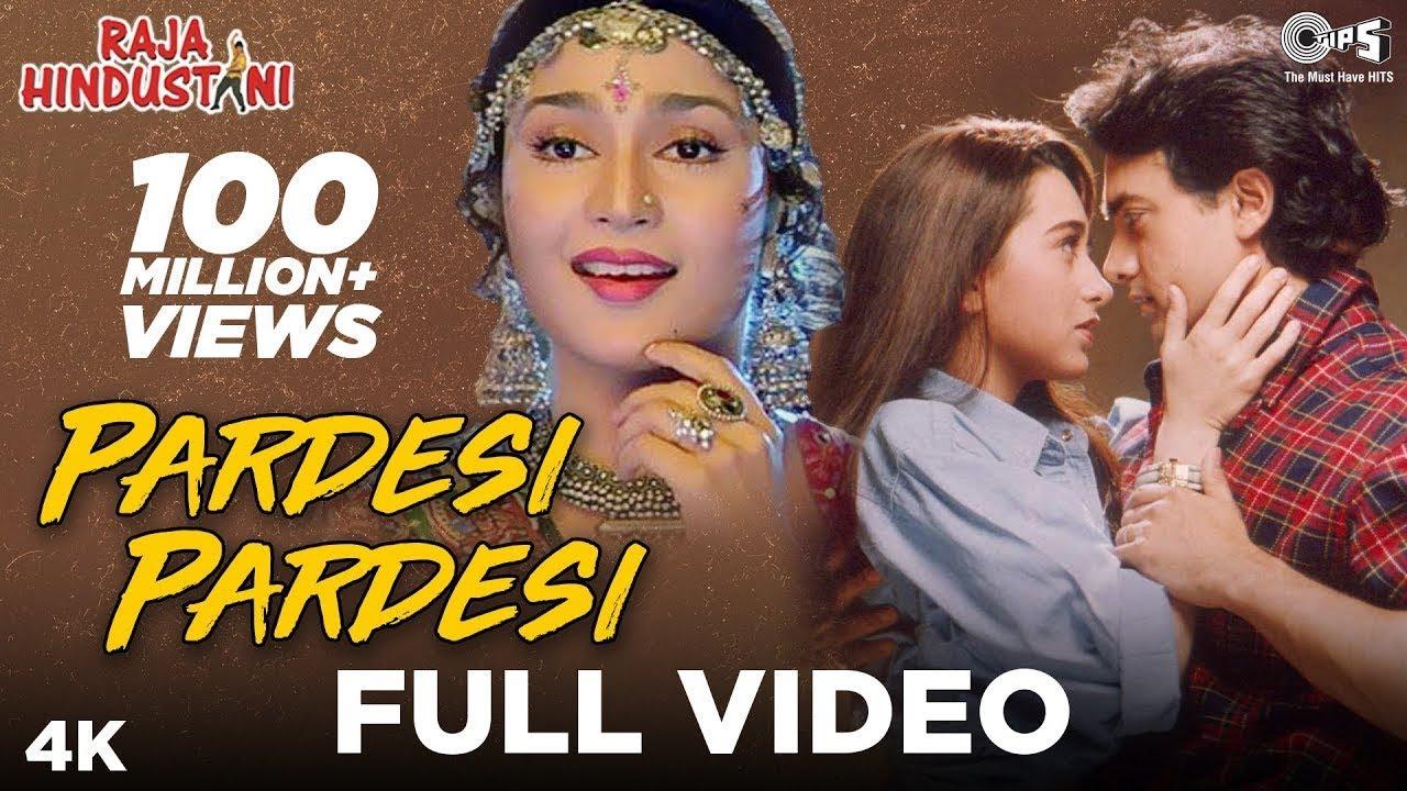 Pardesi Pardesi Jana Nahi lyrics in Hindi and English - Udit Narayan, Alka Yagnik, Raja Hindustani (1996)