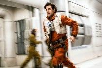 Star Wars: The Last Jedi..Poe Dameron (Oscar Isaac)..Photo: David James..©2017 Lucasfilm Ltd. All Rights Reserved.