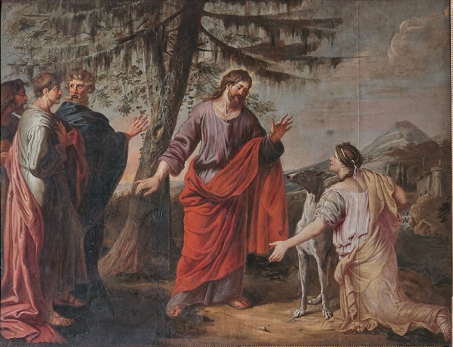Immenraet -Jesus and the Woman of Canaan by Michael Angelo