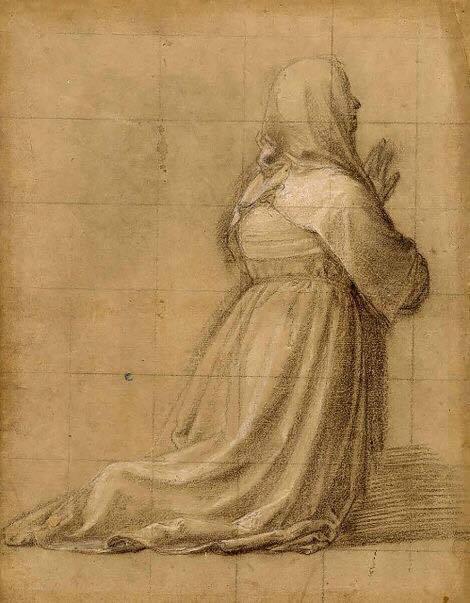 Kneeling In Prayer by Fra Bartolomeo 1511
