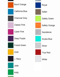 Jerzees color chart also heavyweight blend  shirt aztec promotional group rh aztecworld
