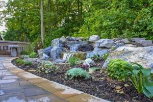 Backyard pondless waterfall, Poughkkepsie, NY