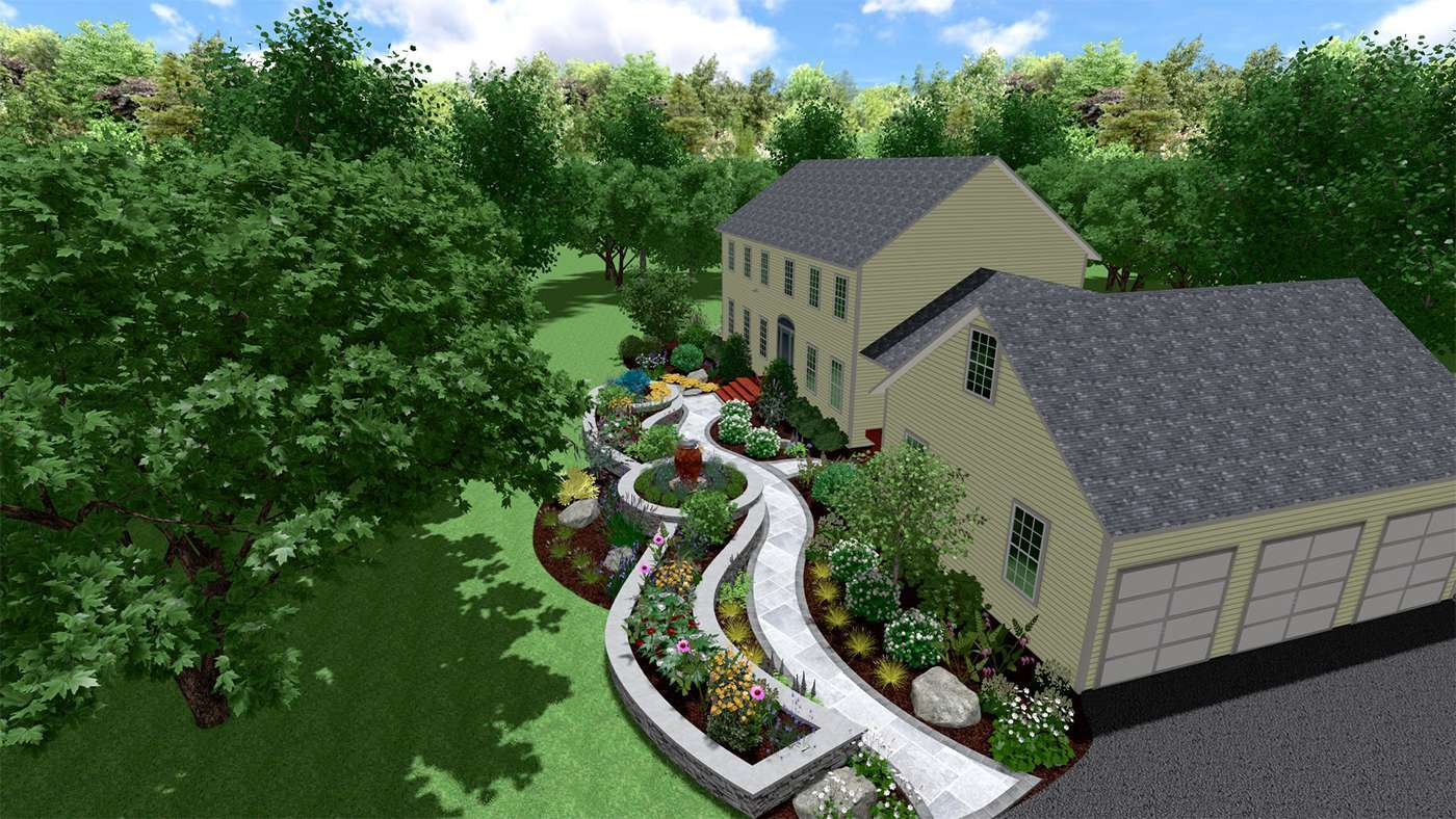 3D design aerial for a better understanding of landscape, in New Paltz NY