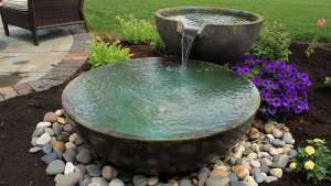 Water bowls are other small water features that gives a soothing sounds, Highland NY