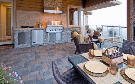 Outdoor kitchen are great addition to any home for extra entertaining, Upstate NY