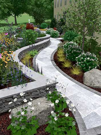 3D LANDSCAPE Design visual of trees, plants and all the hardscape, NEW PALTZ NY