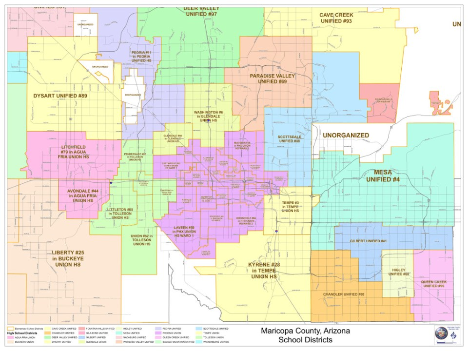 Metro Phoenix School District Map