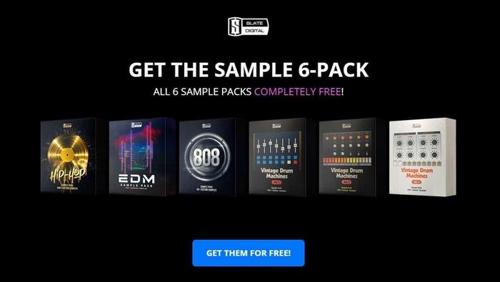 【無料】Slate Digitalによるヒップホップ、EDMに向けたドラムサウンドを収録した6つのサンプルパックが無償配布中