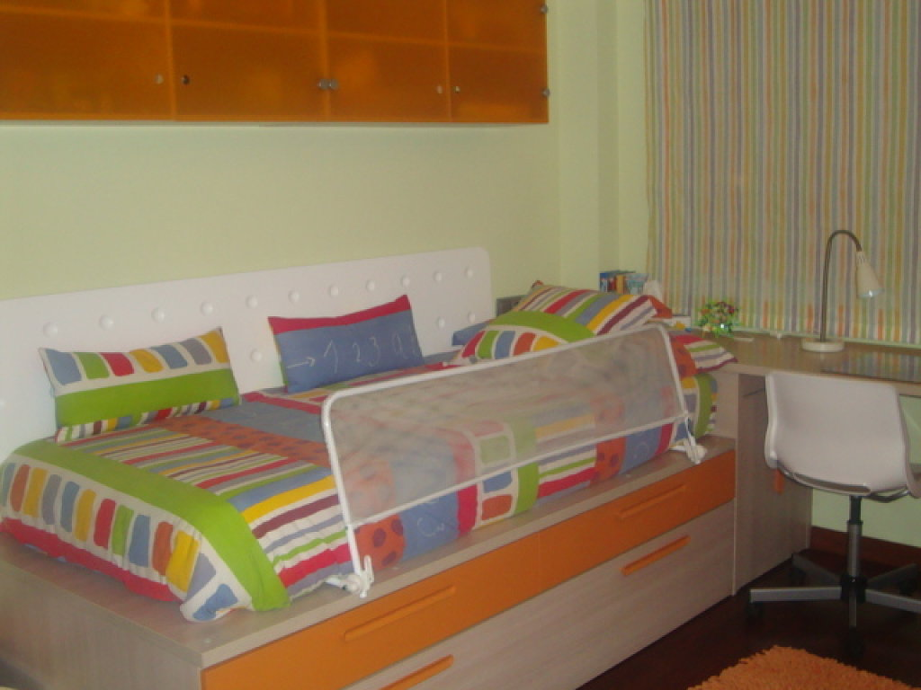 habitacion naranja y azul  Decorar tu casa es facilisimocom