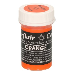 Colorante naranja sin gluten 25 gm. Sugarflair