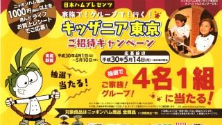 【終了】2018/5/14ライフ&ニッポンハム キッザニア東京 ご招待キャンペーン