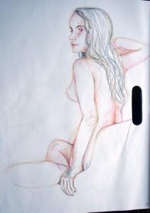 Figure Study 6- Crayon (15 min)