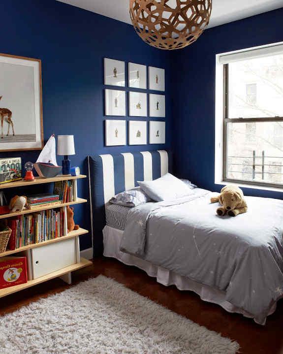 Ideas para Decorar una Habitacin en Color  Azul Marino