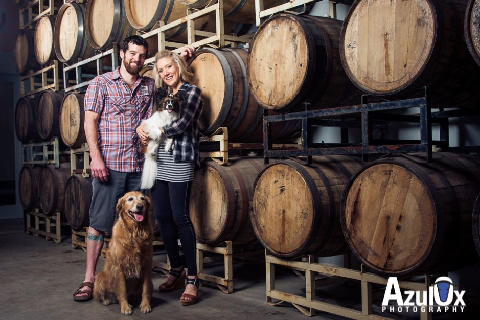 Meg & Josh: Portraits at Hops and Grain's Brewery