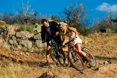 Kim & Jonathan: Reveille Peak Ranch Engagements in Burnet - Epic Engagement photos - Austin Wedding Photographers - Mountain Bike Engagements