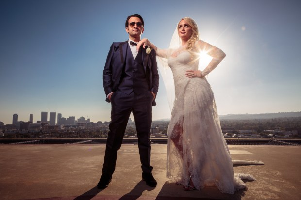 Beverly Hills Wedding - Epic Helipad Wedding Portrait - Austin Wedding Photographers