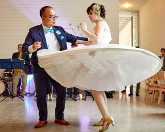 Jonathan and Lindsay - austin wedding photographer - Prospect House - DIY Wedding - First Dance
