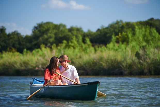 Kayaking Adventure Engagement - Llano River - Lifestyle Wedding Photography