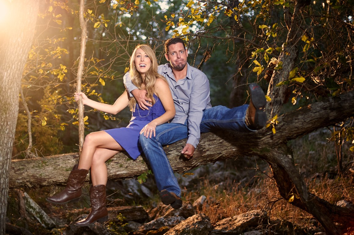 Jacob and Kathleen austin hill country adventure endgagements - hill country engagement photos - golden hour engagement photos - austin wedding photographers - nature engagement photos -