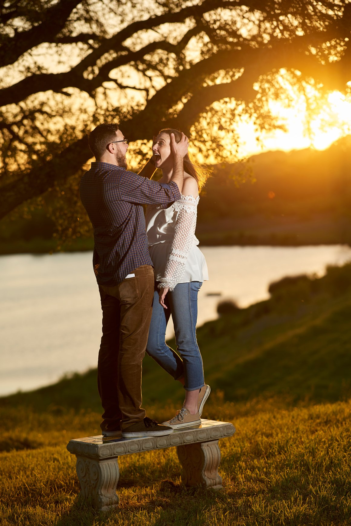 Lake Sunset Engagement - Waco DIY Wedding - Temple Camp Wedding - Hallie and Jonathan - Green Family Camp - Blue Bonnet Wedding