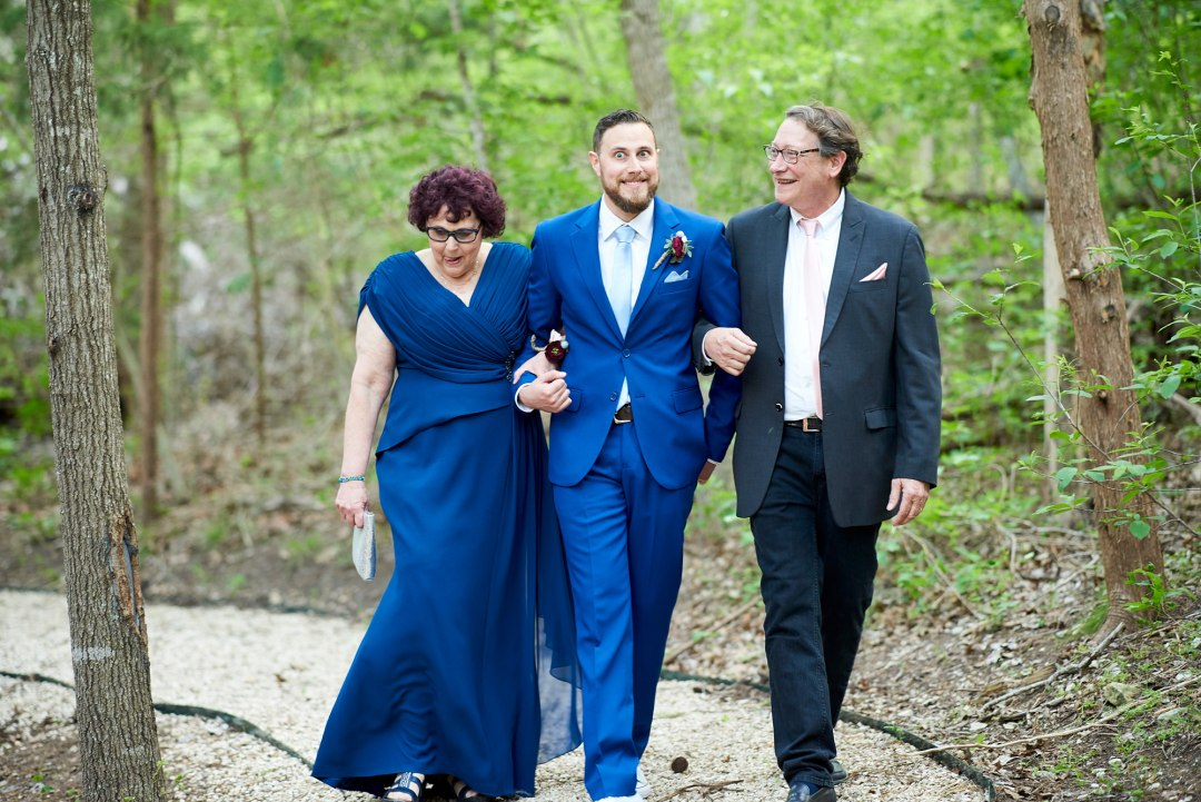 Forest Wedding Ceremony - Waco DIY Wedding - Temple Camp Wedding - Hallie and Jonathan - Green Family Camp - Blue Bonnet Wedding