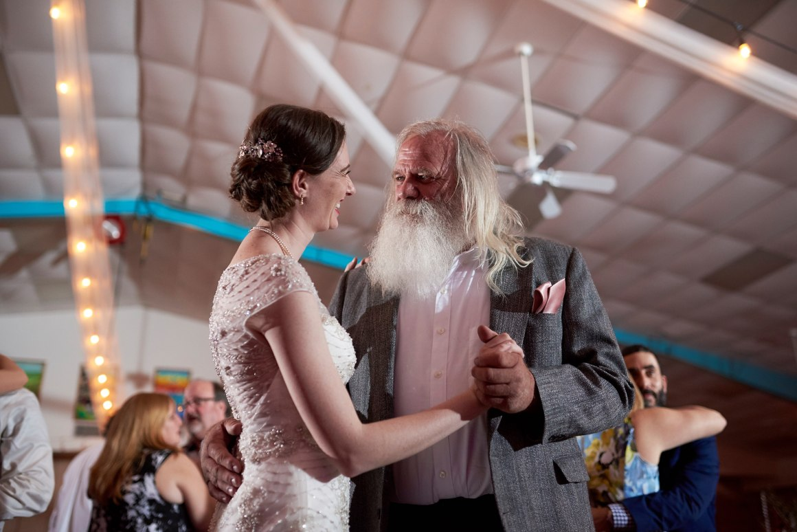 Father and Daughter Dancing - Waco DIY Wedding - Temple Camp Wedding - Hallie and Jonathan - Green Family Camp - Outdoor Wedding