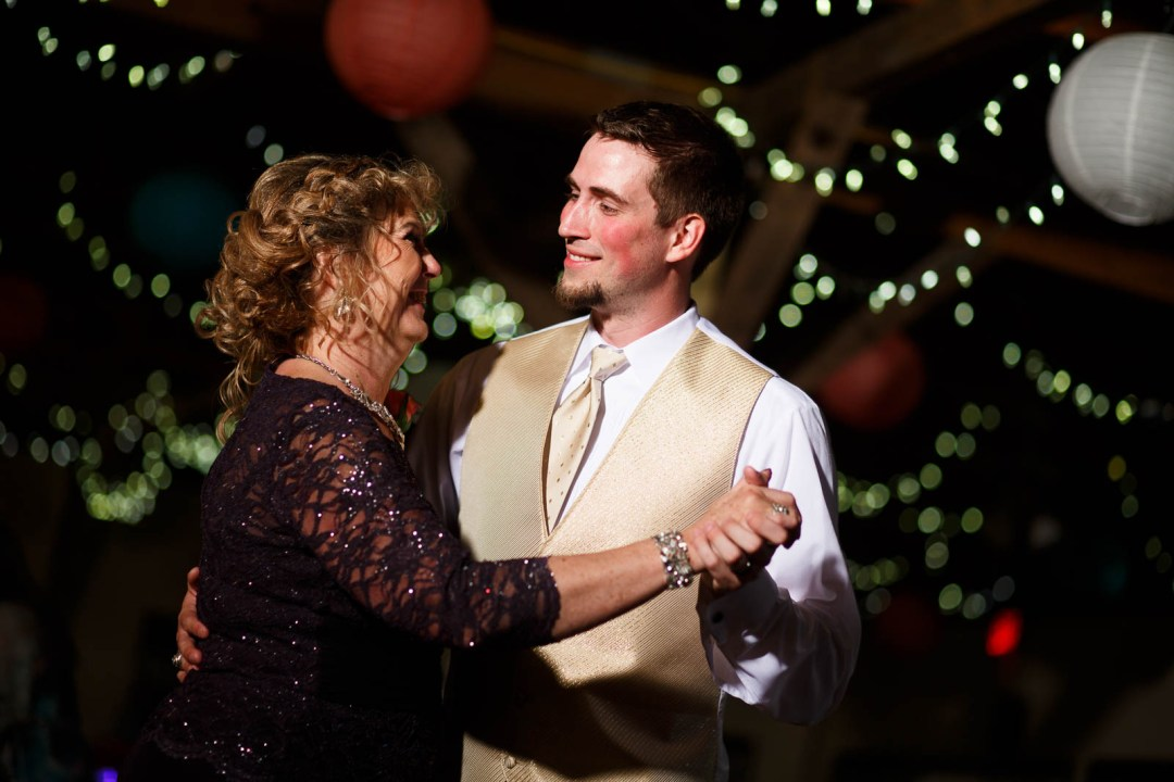 Canyon Lake Wedding - Country Wedding - Classic Car Wedding - New Braunfels Wedding - Groom dance with mom - Shay and Jason