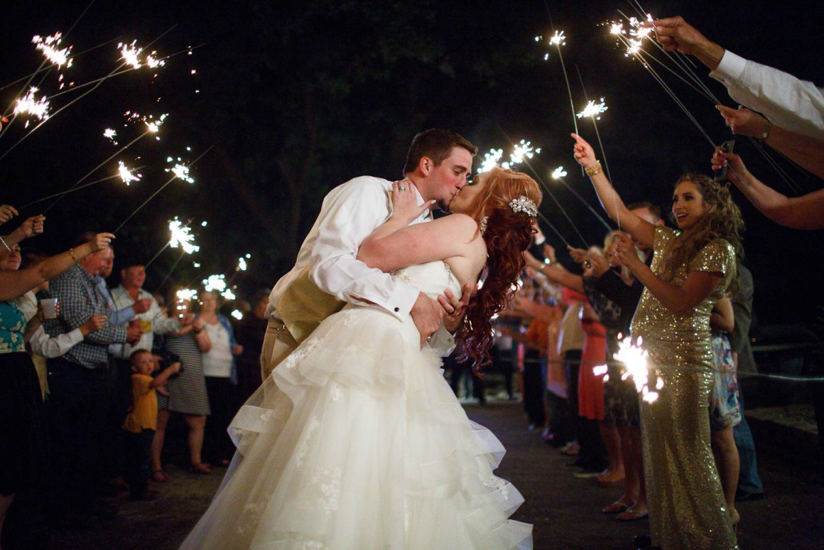 Canyon Lake Wedding - Country Wedding - Classic Car Wedding - New Braunfels Wedding - Groom and Bride Departure - Sparklers Wedding Departure - Shay and Jason