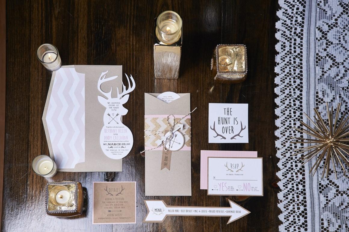 Custom Wedding Invites and Programs - Wedding Detail Photography - Rustic Wedding - Austin Wedding Photographer
