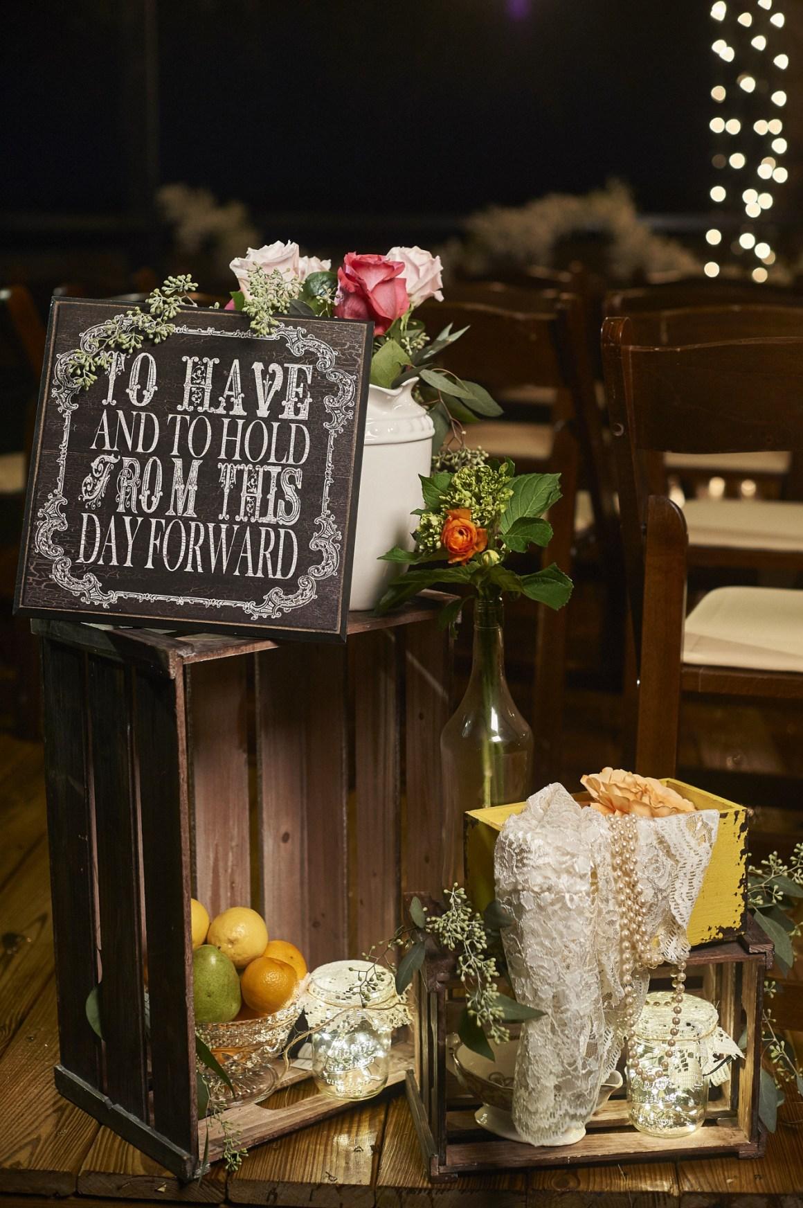 After Dark Ceremony Details - Elegant Country Wedding - Austin Wedding Photography