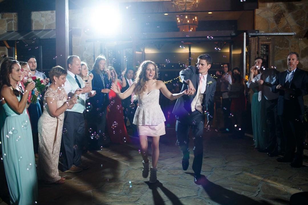 Hill Country Wedding - Pecan Springs Ranch Wedding - Bride and Groom Exit - Austin Wedding Photographer - Matt and Allison